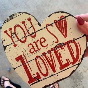 You are loved wood heart ❤️